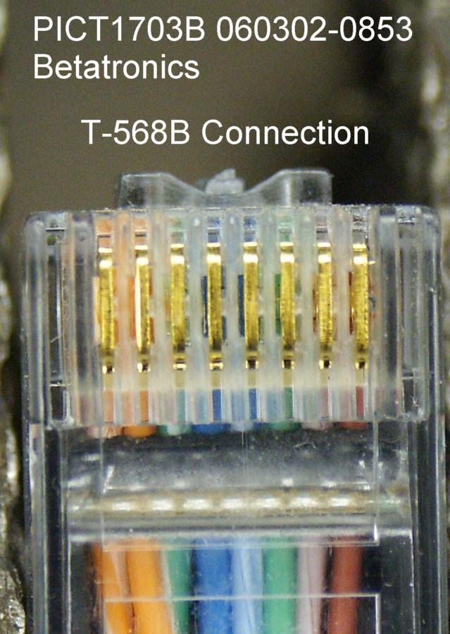 Cat 5e 568b Wiring